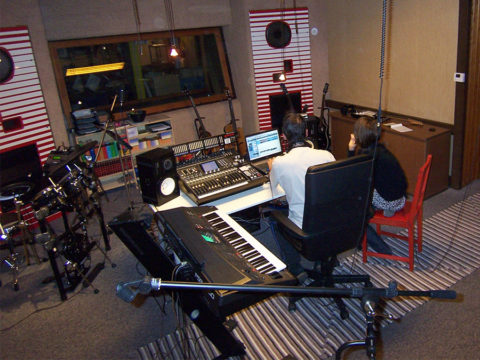 MonaLisa Twins in the studio 2007 working on first music videos