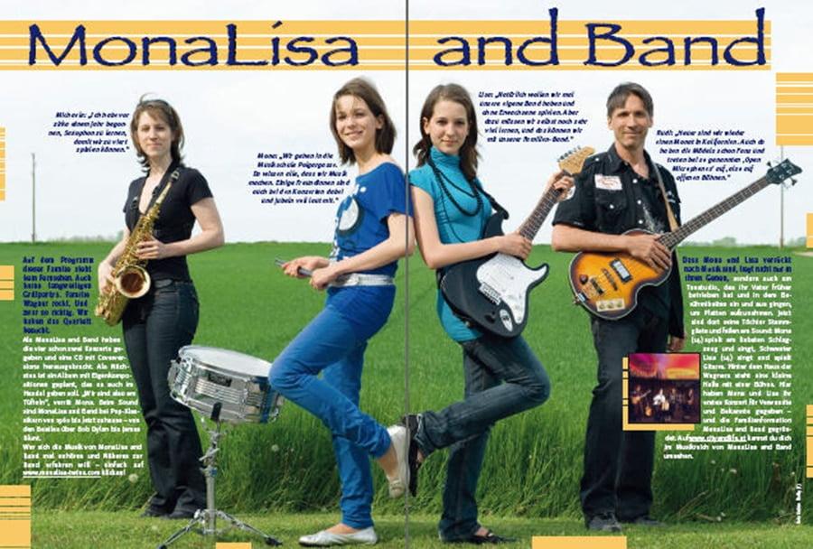 MonaLisa Twins in the CIty & Life Magazine