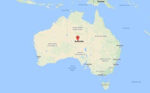 Australia Map Down Under