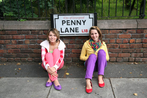 MonaLisa Twins by Penny Lane Sign in Liverpool