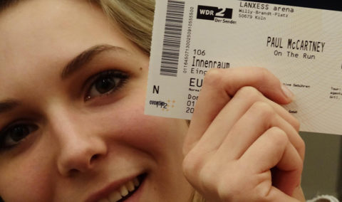 Mona with Paul McCartney tickets for Cologne