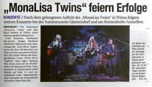 "MonaLisa Twins concert review in ""NÖN"""