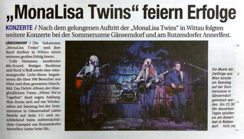 "MonaLisa Twins concert review in ""NÖN"""