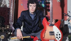 Donovan with cherry-red Rickenbacker