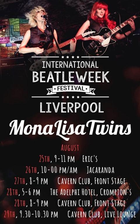 International Beatleweek 2016 Live Calendar for the MonaLisa Twins