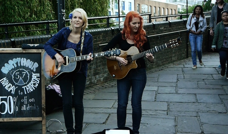 MonaLisa Twins Busking In Camden, London
