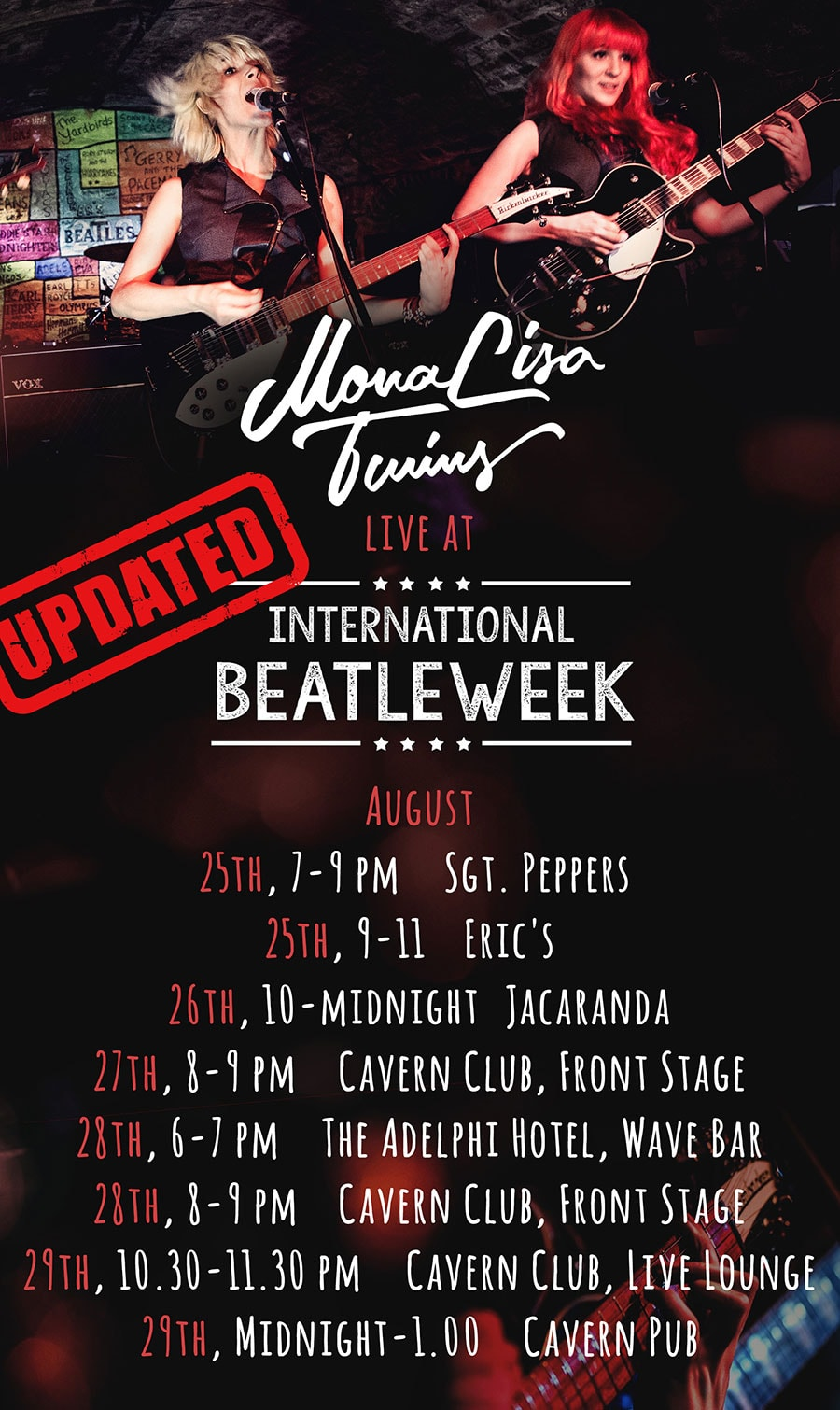 MonaLisa Twins Beatleweek Shows 2016 Flyer