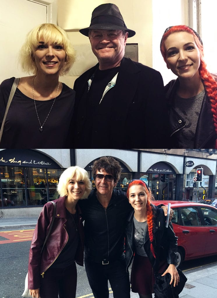 MonaLisa Twins with Micky Dolenz/Monkees and Clem Burke/Blondie