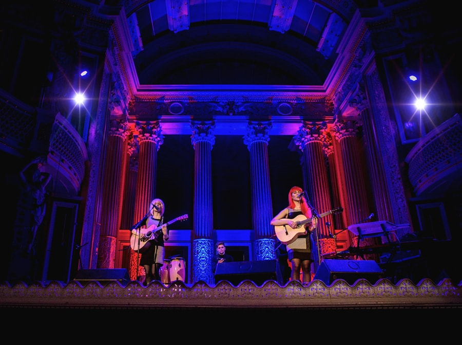 MonaLisa Twins at St. George's Hall in Liverpool supporting Steve Harley
