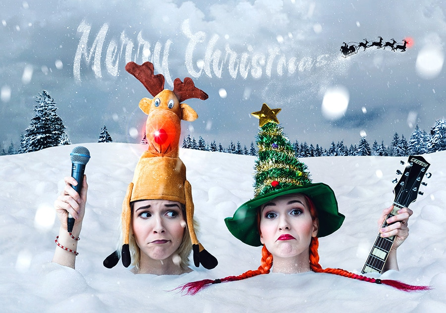 MonaLisa Twins Christmas Card - Happy Holidays 2016!