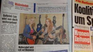 MonaLisa Twins in the Kronen Zeitung