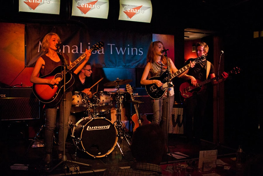 MonaLisa Twins on stage during their Cenario II live show
