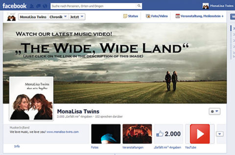 2.000 Facebook Likes in MonaLisa Twins Page
