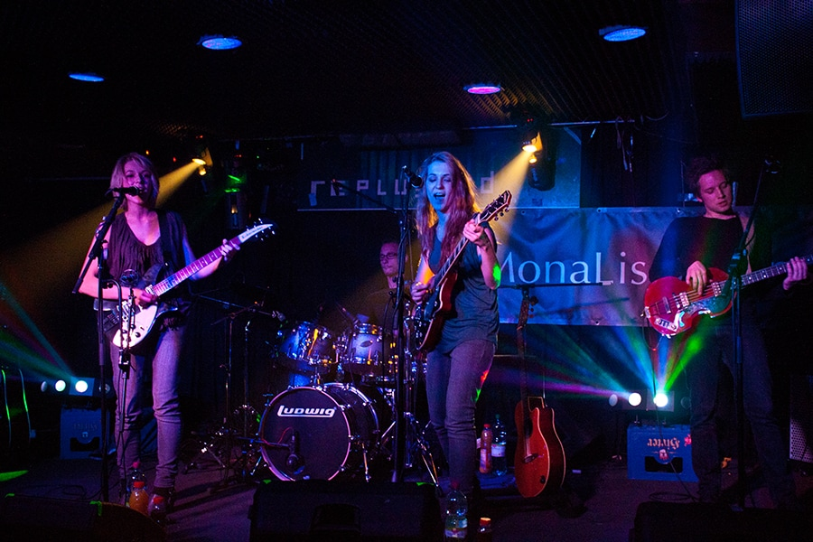 MonaLisa Twins live on stage at the Replugged in Vienna