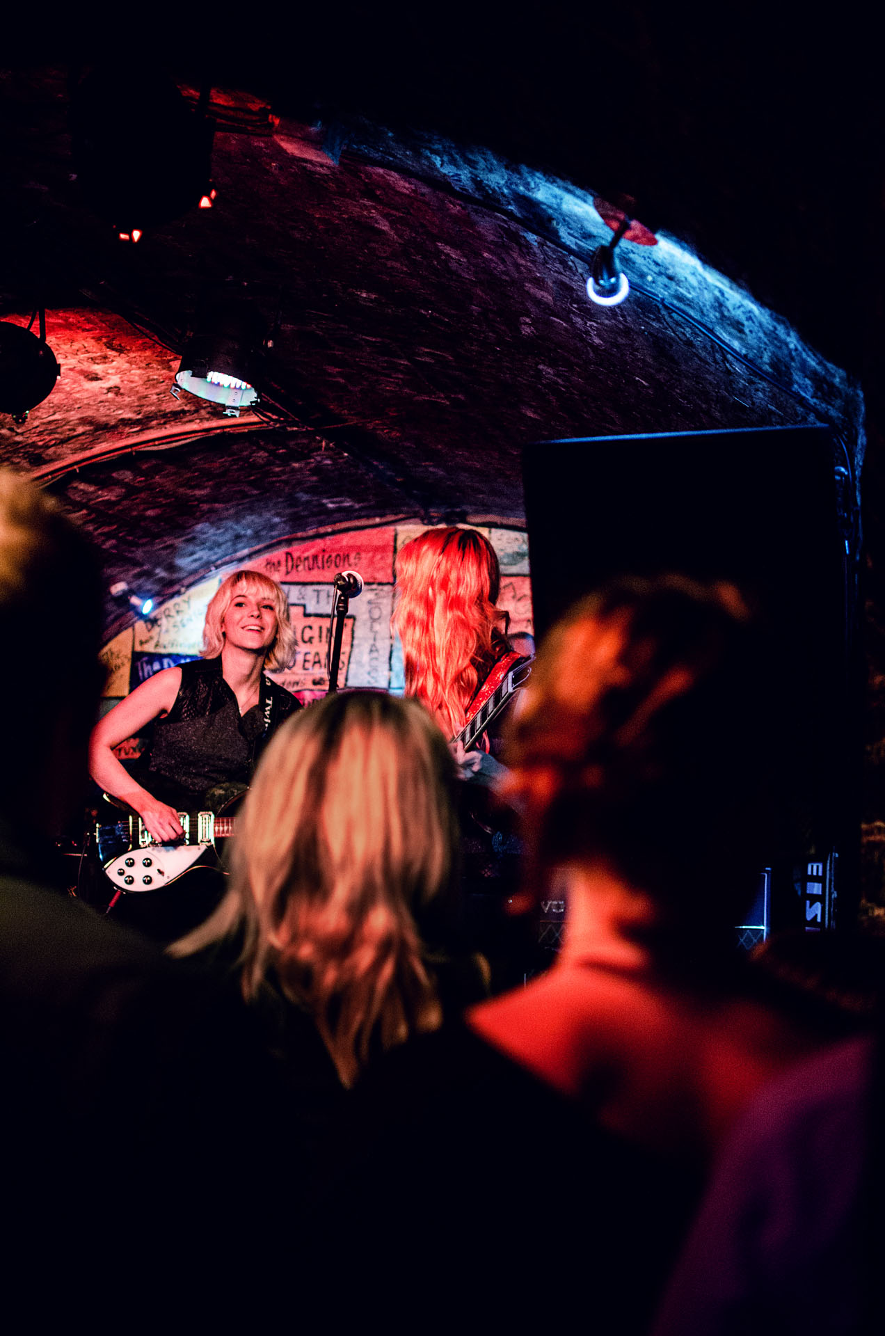 Cheap seats' view of the MonaLisa Twins at the Cavern Club, Liverpool