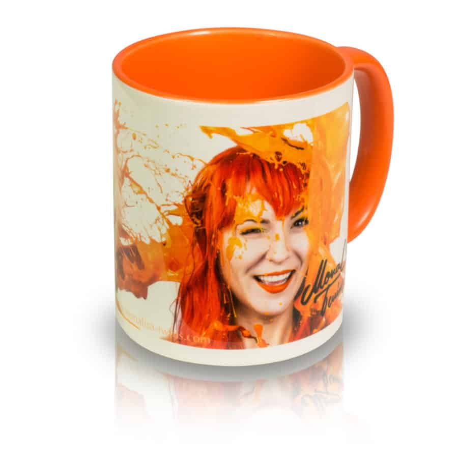 "Coffee Mug ""ORANGE"" Angle View"