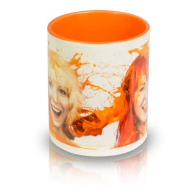 "Coffee Mug ""ORANGE"" Front View"