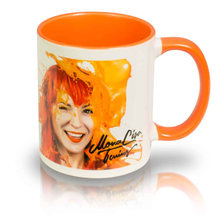 "Coffee Mug ""ORANGE"" Right View"