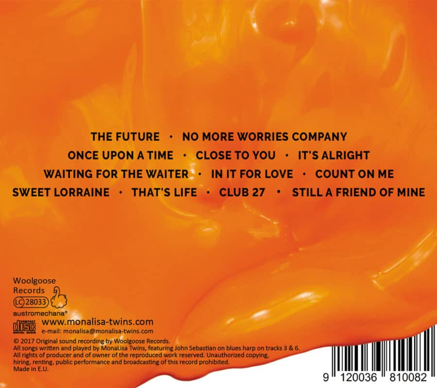 ORANGE CD Back Cover