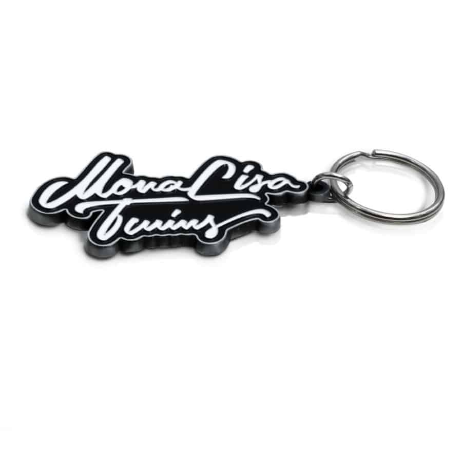 Keychain – MonaLisa Twins Logo side