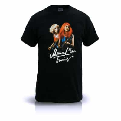 Unisex T-Shirt – MonaLisa Twins Live Front View