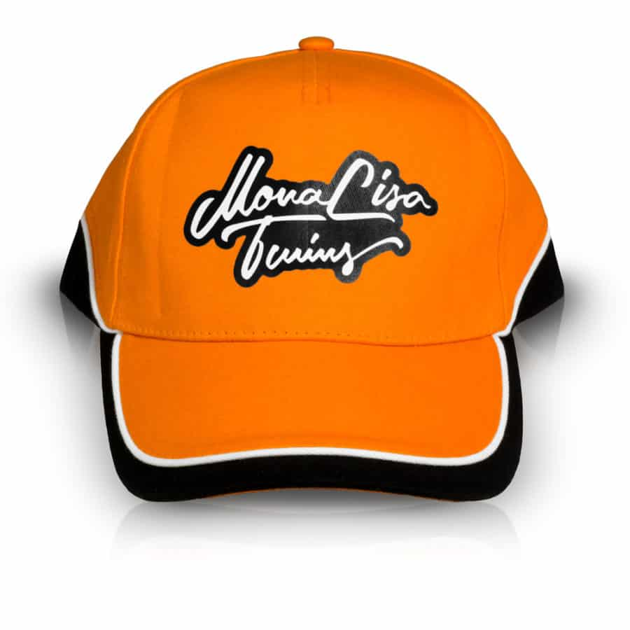 MonaLisa Twins Orange Baseball Cap Hat side front