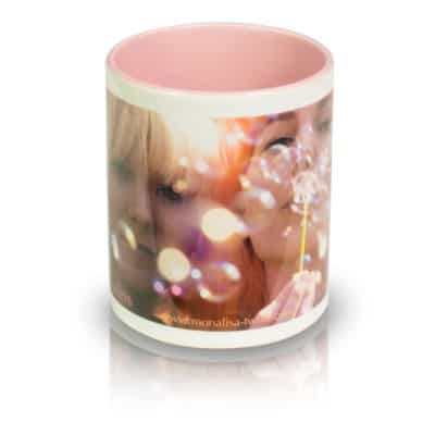 "Coffee Mug ""Bubbles"" Front View"