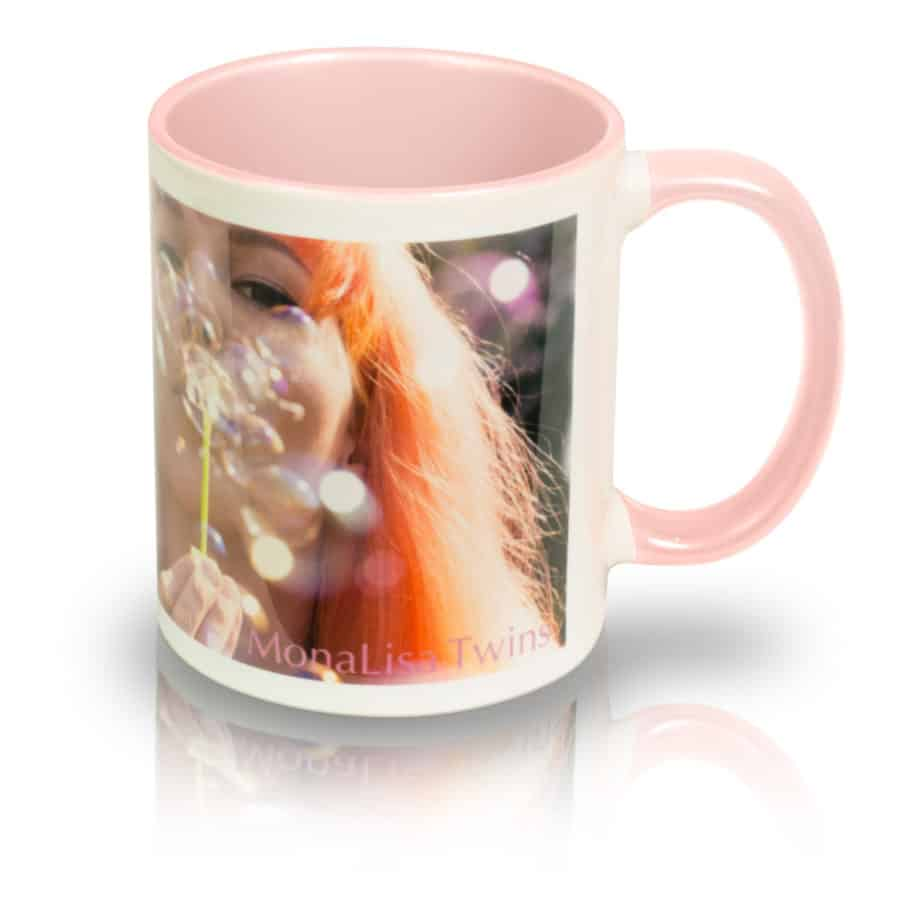 "Coffee Mug ""Bubbles"" Right View"