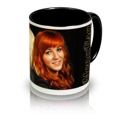 "Coffee Mug ""Duo"" Angle View"
