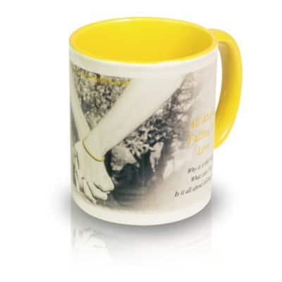 "Coffee Mug ""All About Falling In Love"" Angle View"