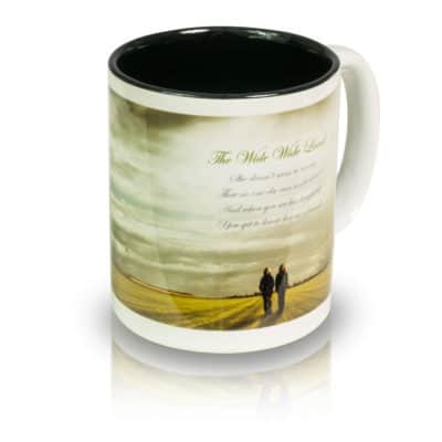 "Coffee Mug ""The Wide, Wide Land"" Angle View"