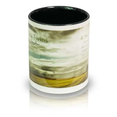 """Coffee Mug """"The Wide, Wide Land"""" Front View"""