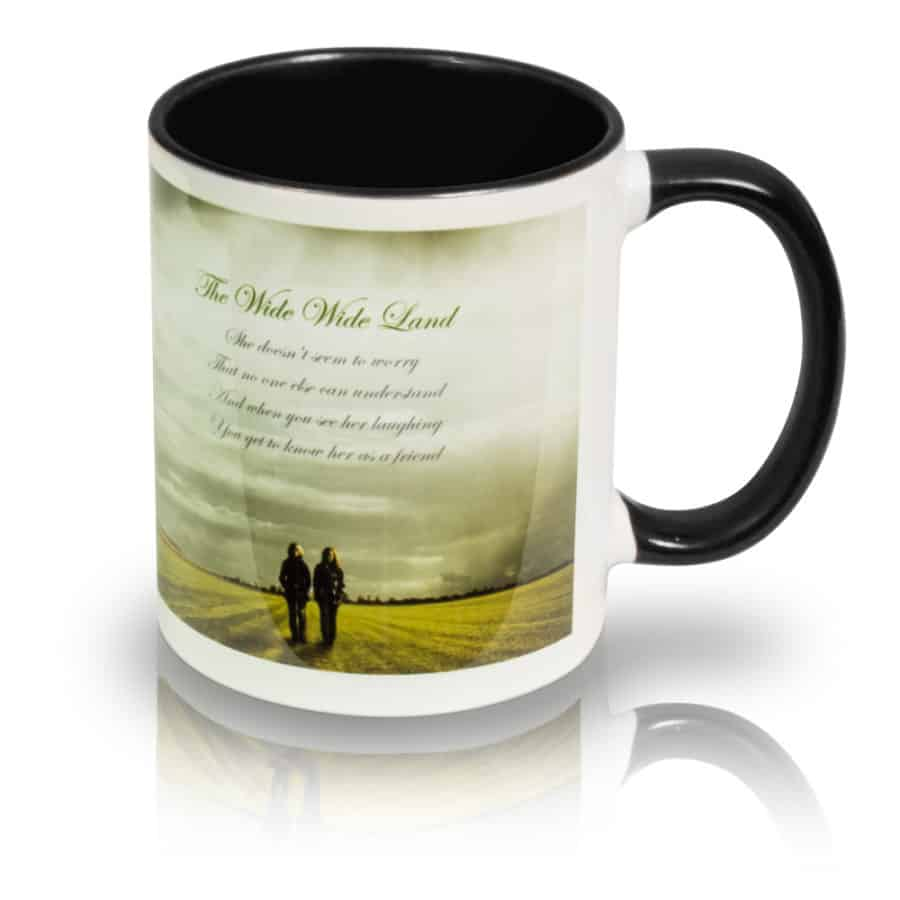 "Coffee Mug ""The Wide, Wide Land"" Right View"