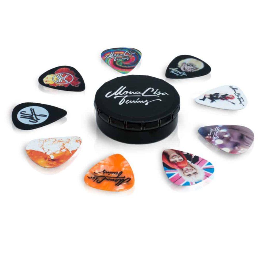 Guitar Pick Set – 9 Designs in Tin Box