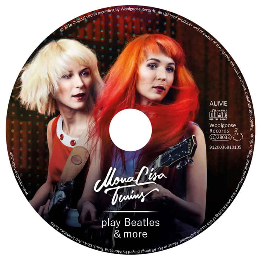 MonaLisa Twins play Beatles & more Vol. 2 CD Label