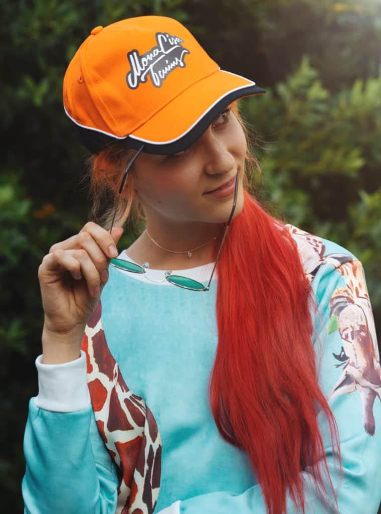 Lisa Orange Baseball Cap Hat Summer Sale