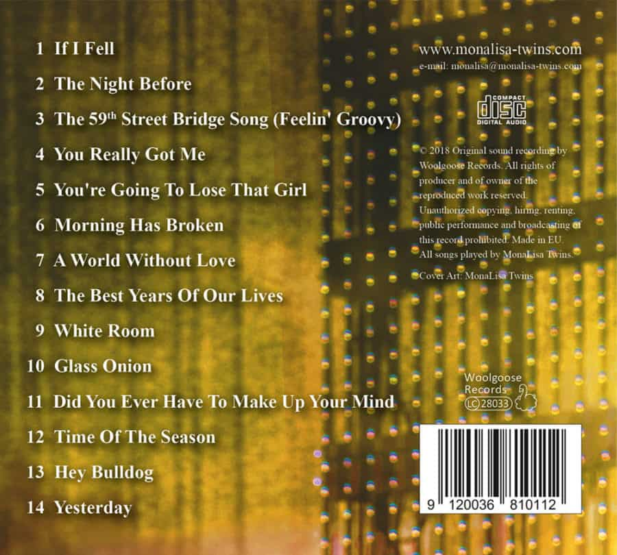 MLT play Beatles & more VOL3 Back Cover